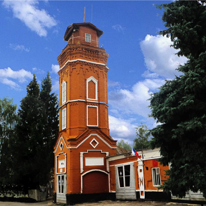 the town of Trubchevsk. Fire tower 1894 Built on the money of merchant I. I. Gamow